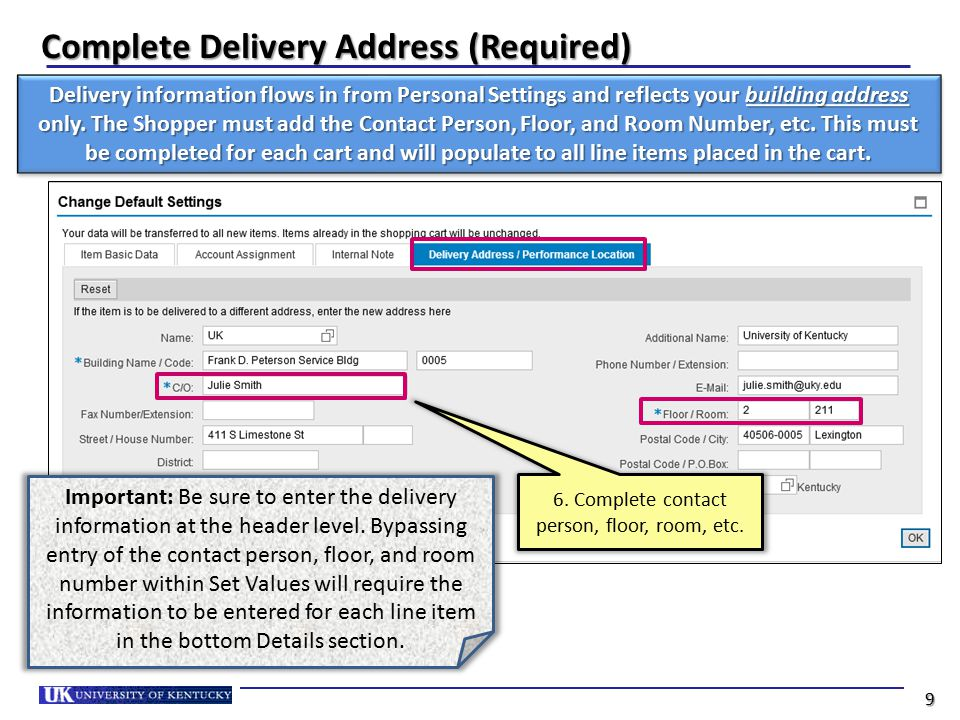 Complete Delivery Address (Required)