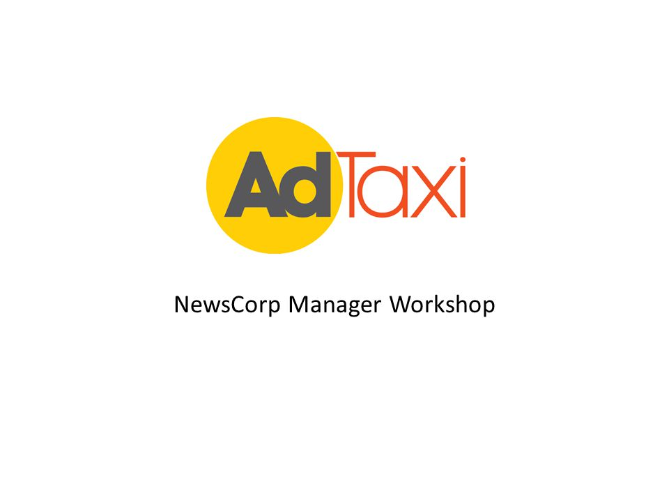 NewsCorp Manager Workshop