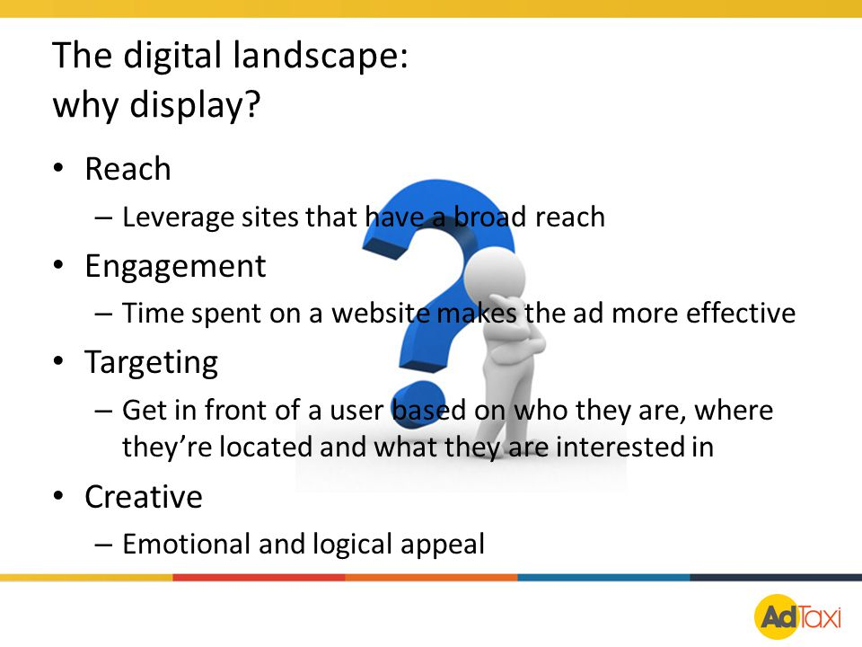 The digital landscape: why display