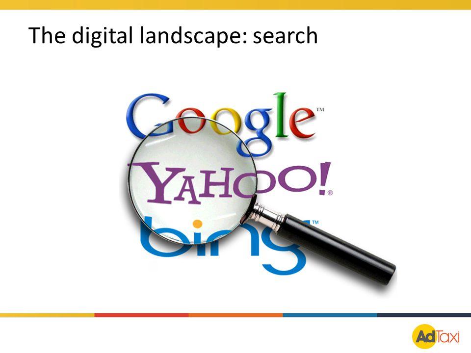 The digital landscape: search