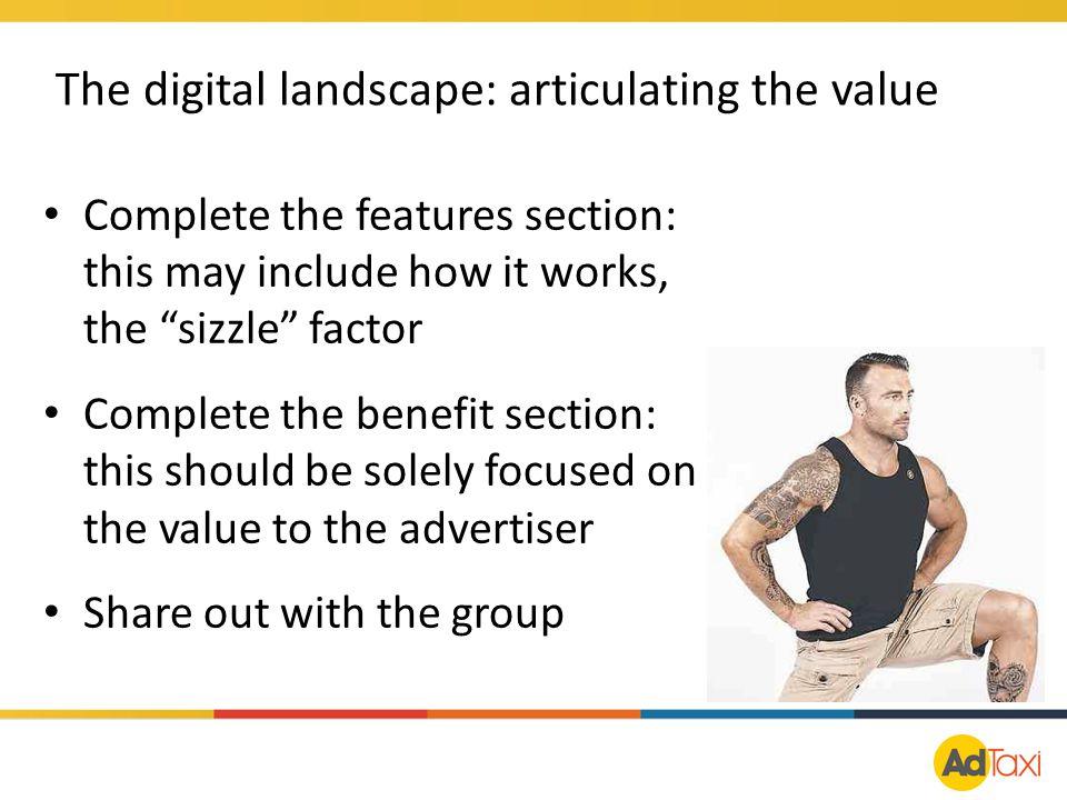 The digital landscape: articulating the value