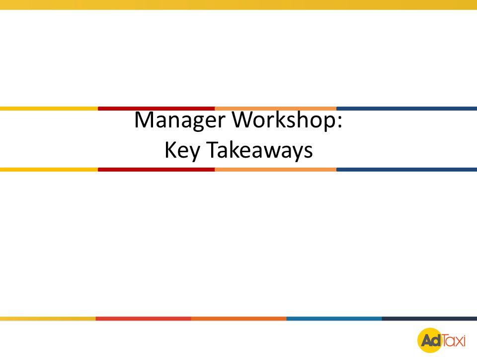 Manager Workshop: Key Takeaways