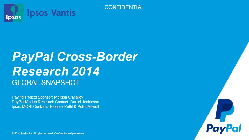 PayPal Cross-Border Research 2014 GLOBAL SNAPSHOT