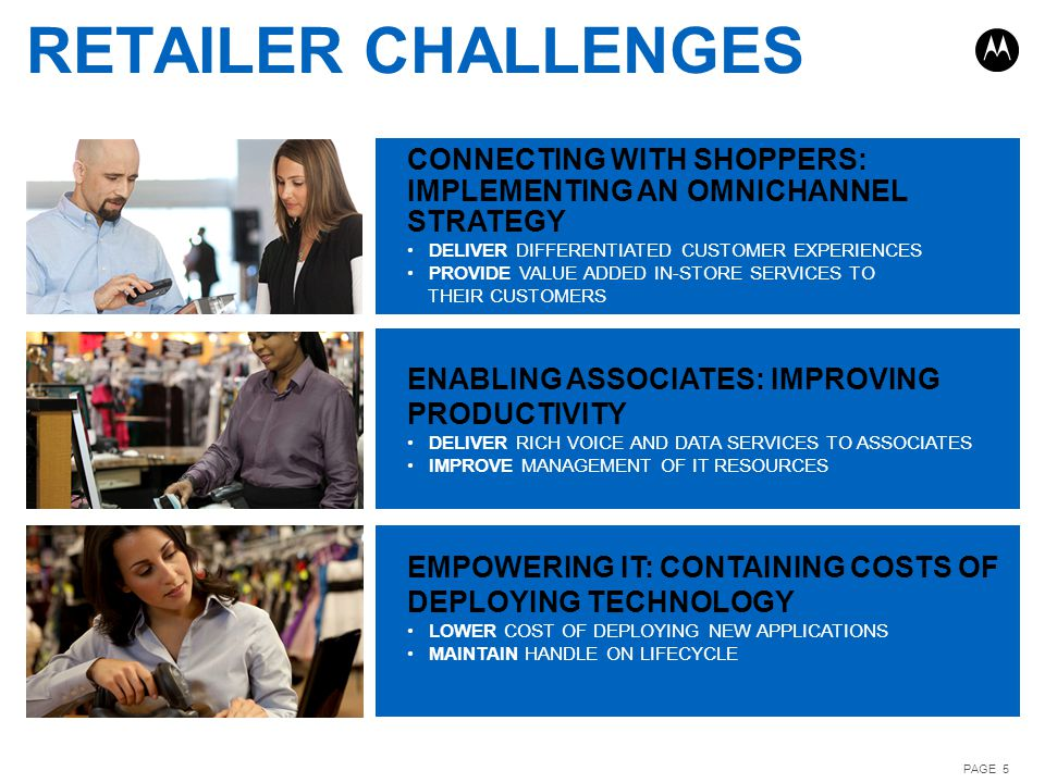 RETAILER CHALLENGES CONNECTING WITH SHOPPERS: IMPLEMENTING AN OMNICHANNEL STRATEGY. DELIVER DIFFERENTIATED CUSTOMER EXPERIENCES.