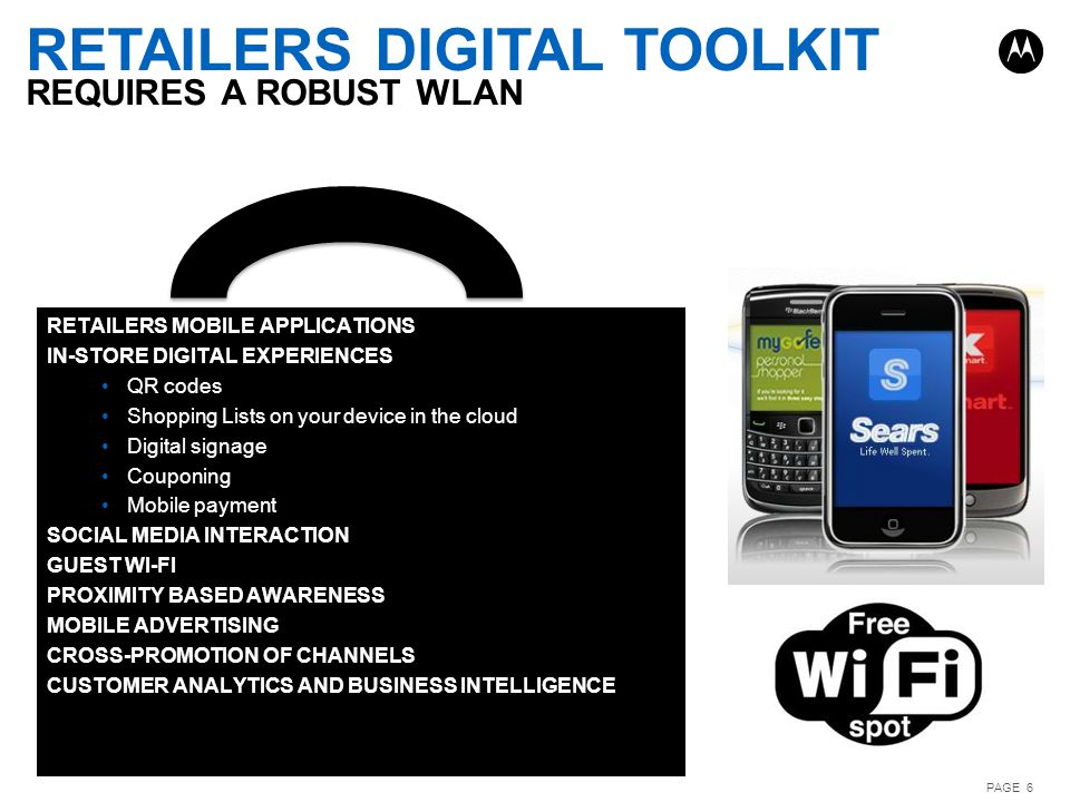 Retailers digital toolkit requires a robust wlan