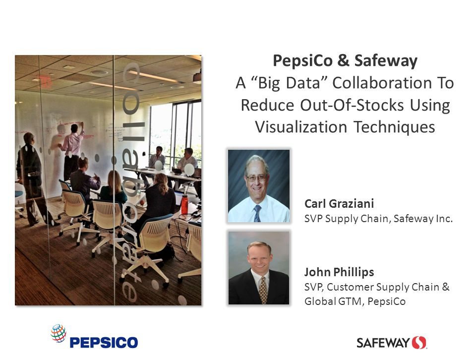 PepsiCo & Safeway A Big Data Collaboration To Reduce Out-Of-Stocks Using Visualization Techniques