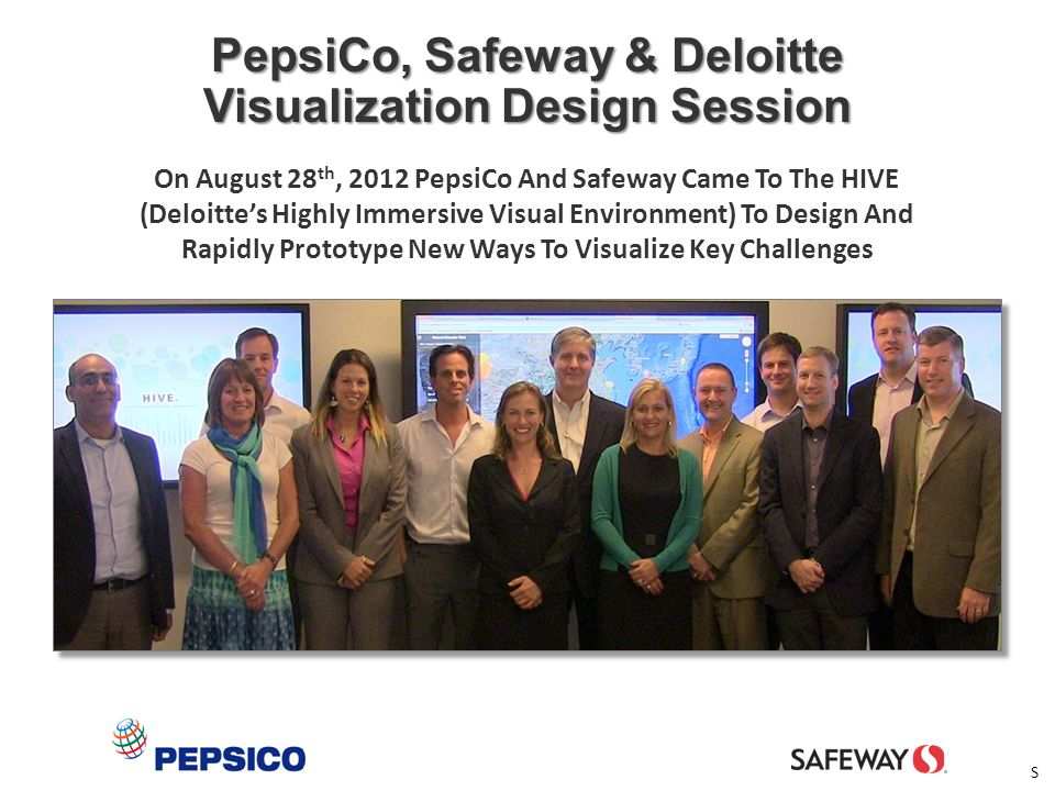 PepsiCo, Safeway & Deloitte Visualization Design Session