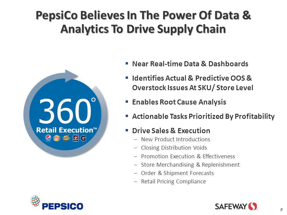 PepsiCo Believes In The Power Of Data & Analytics To Drive Supply Chain