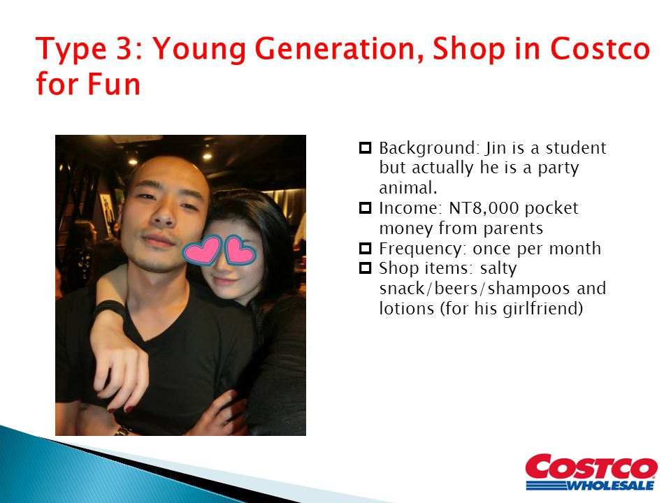 Type 3: Young Generation, Shop in Costco for Fun