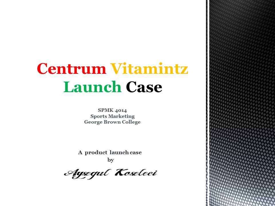 A product launch case by