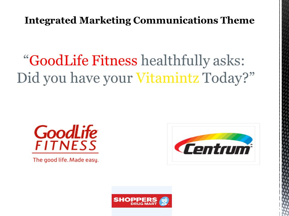 GoodLife Fitness healthfully asks: