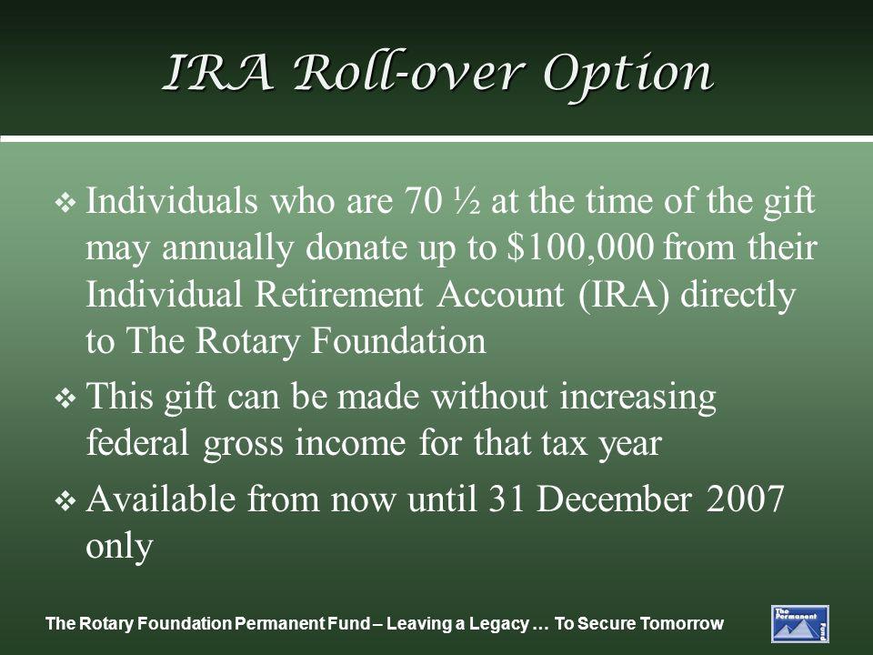IRA Roll-over Option