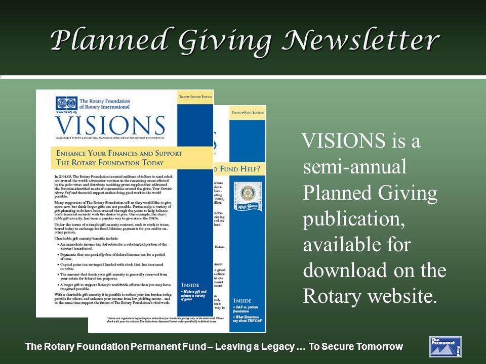 Planned Giving Newsletter
