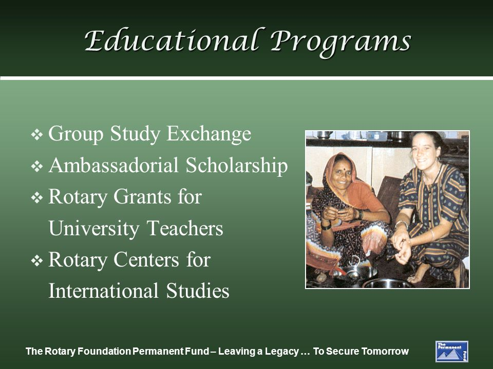 Educational Programs Group Study Exchange Ambassadorial Scholarship