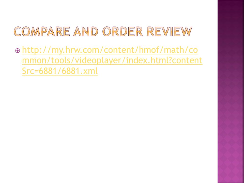 Compare and order review