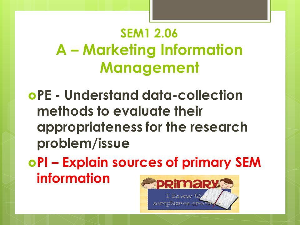 SEM1 2.06 A – Marketing Information Management