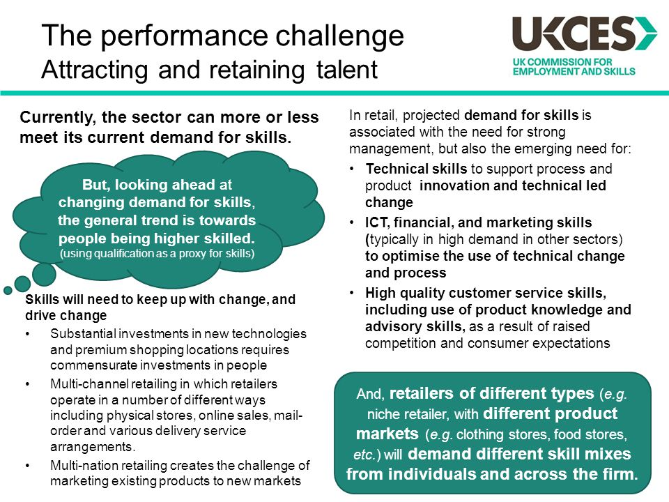 The performance challenge Attracting and retaining talent