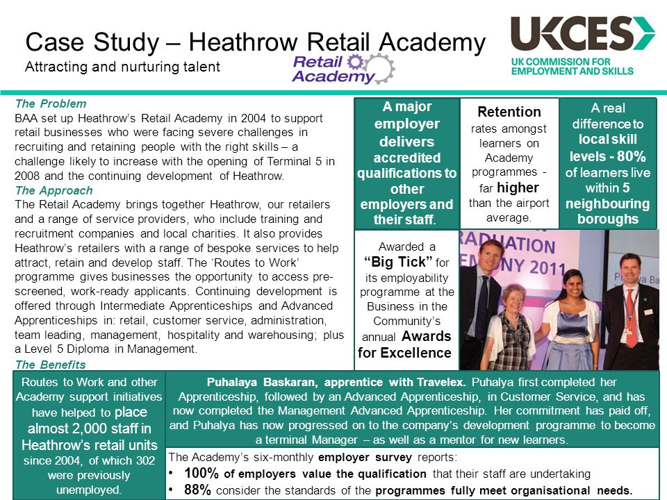 Case Study – Heathrow Retail Academy Attracting and nurturing talent