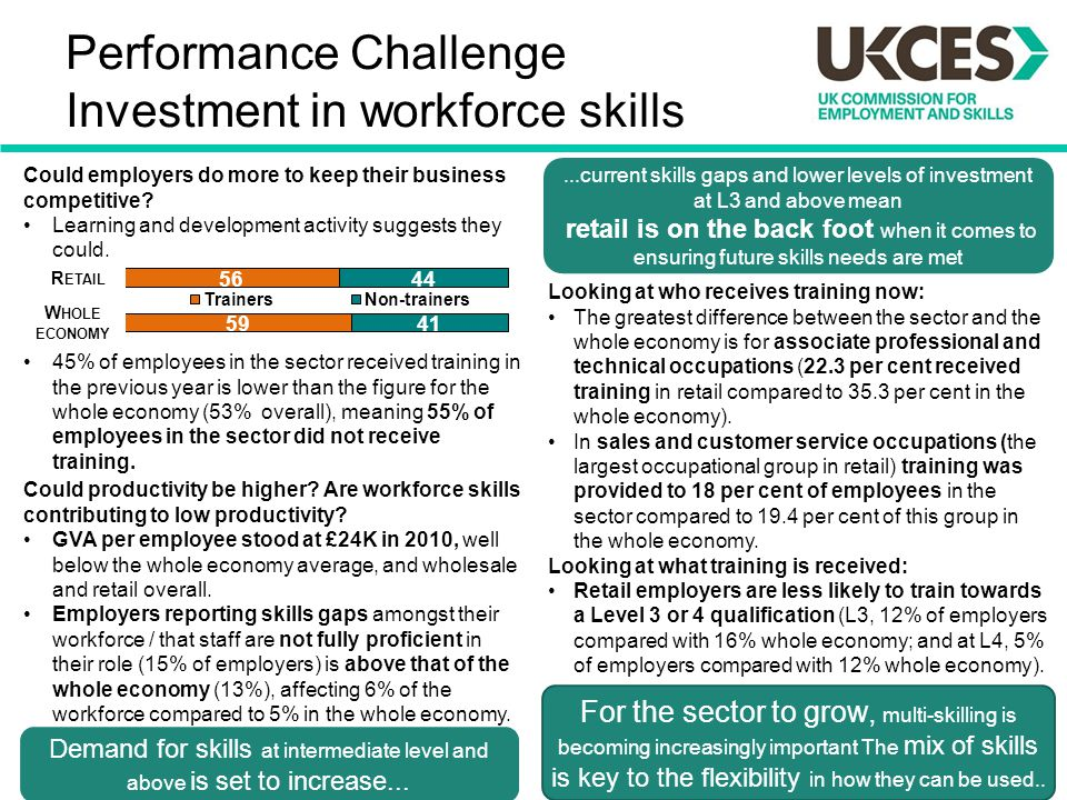 Performance Challenge Investment in workforce skills