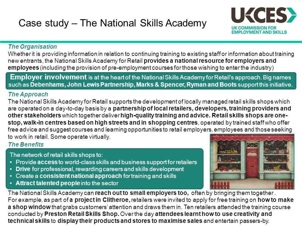 Case study – The National Skills Academy