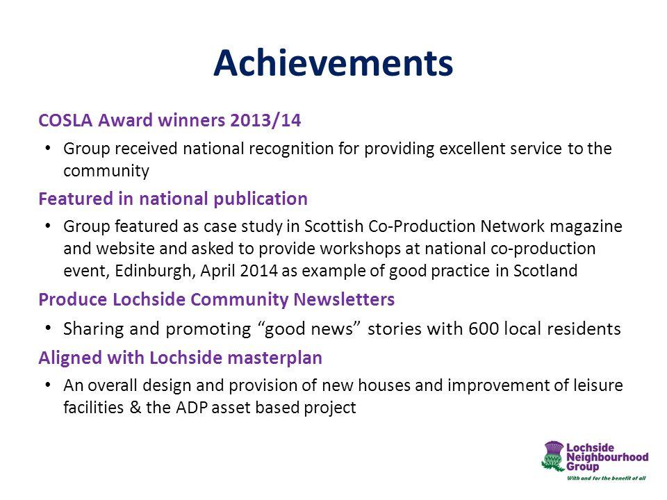Achievements COSLA Award winners 2013/14