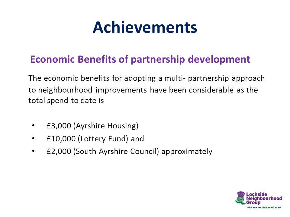 Achievements Economic Benefits of partnership development.