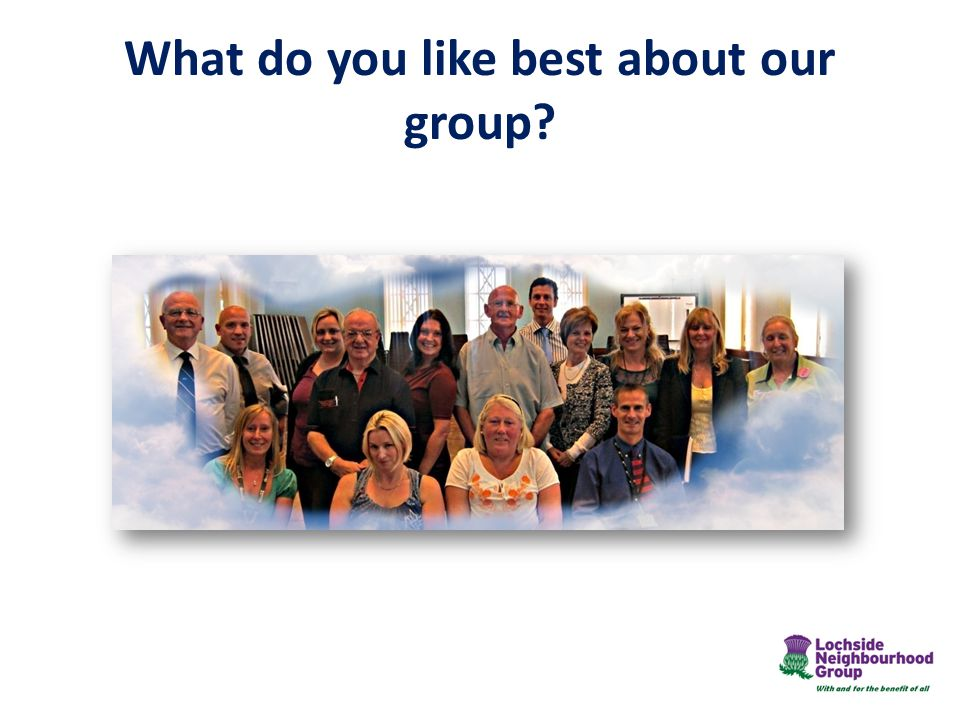 What do you like best about our group