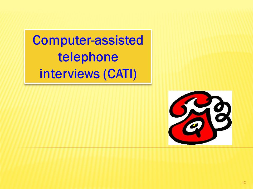 Computer-assisted telephone interviews (CATI)