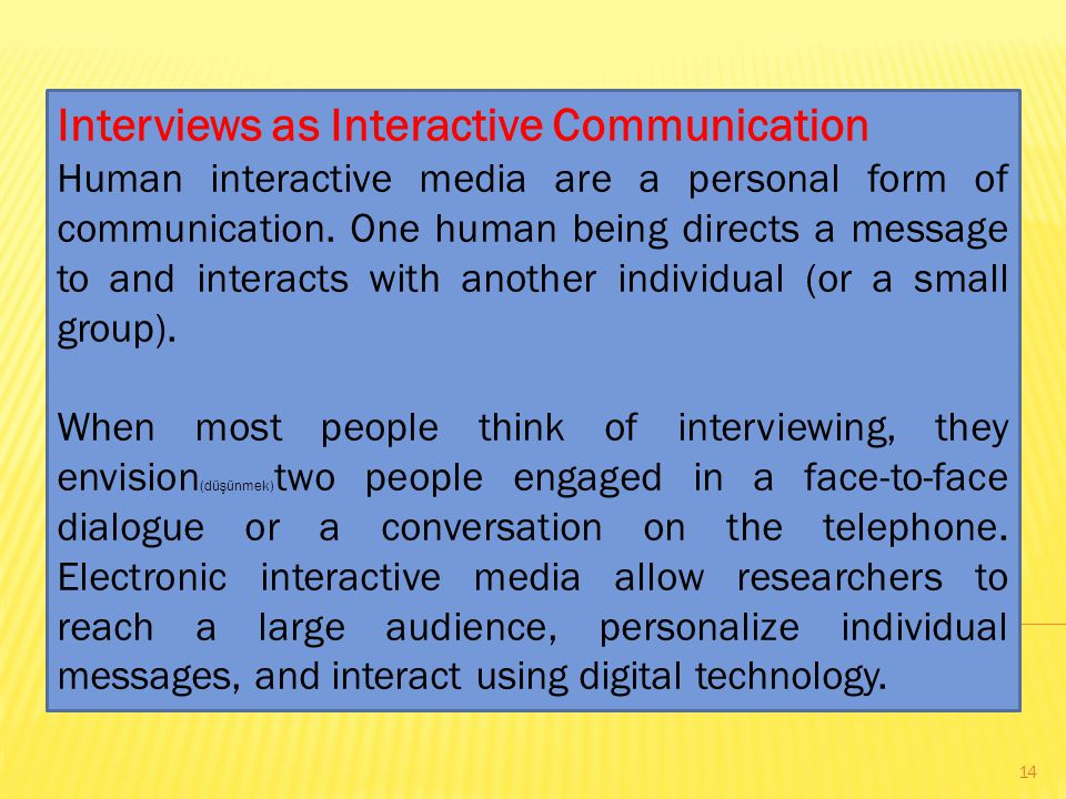 Interviews as Interactive Communication