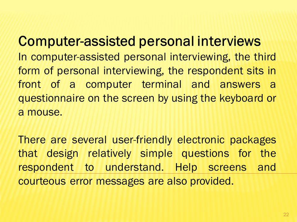 Computer-assisted personal interviews