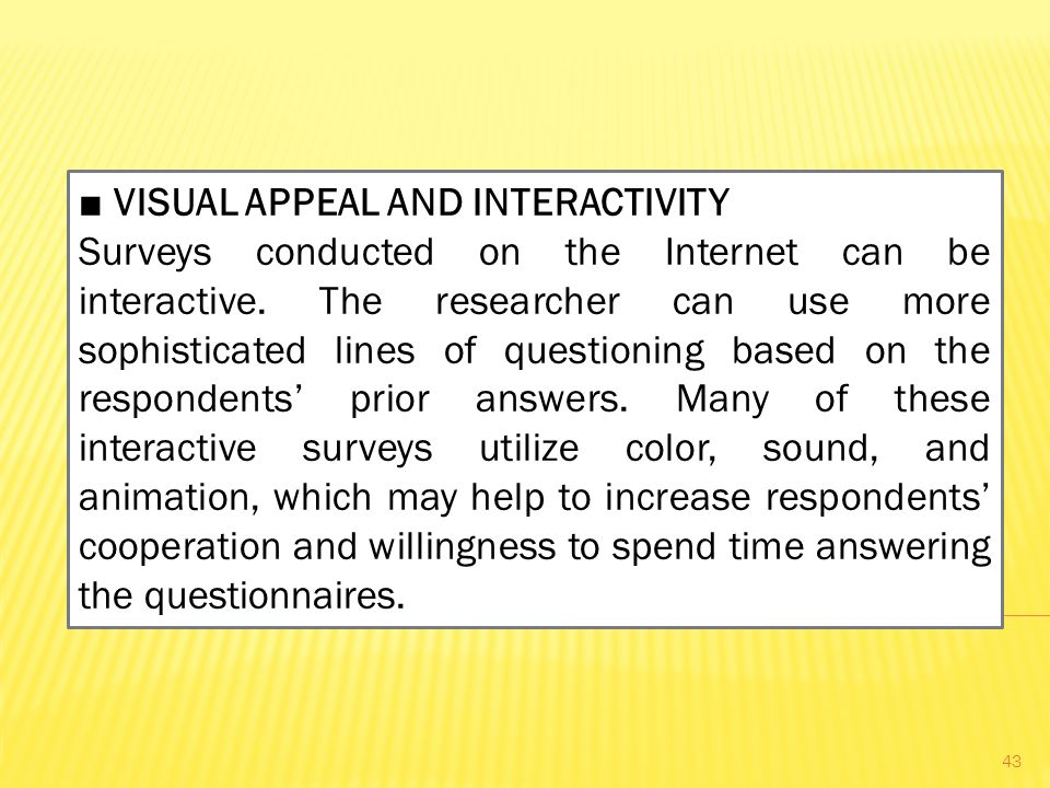 ■ VISUAL APPEAL AND INTERACTIVITY