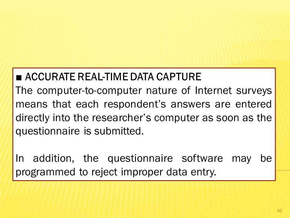 ■ ACCURATE REAL-TIME DATA CAPTURE