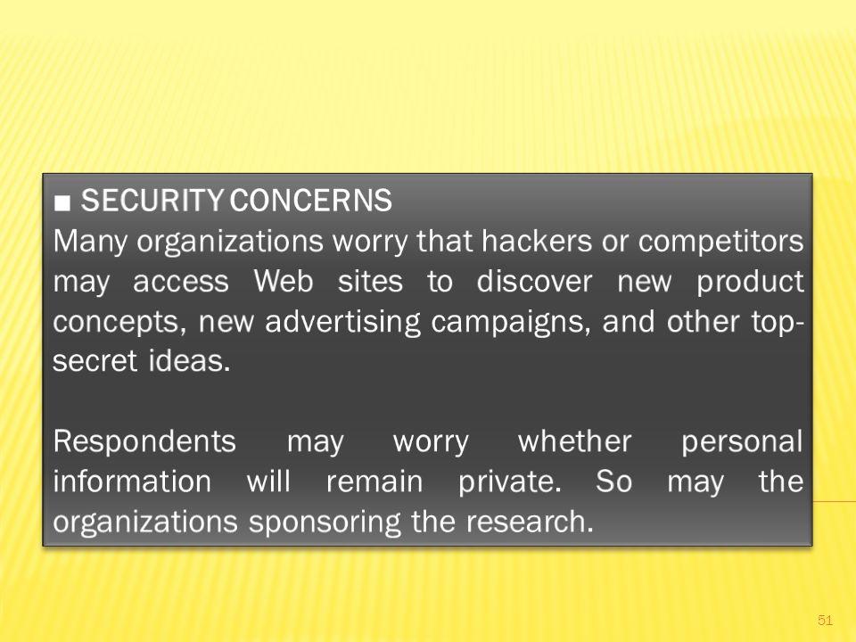 ■ SECURITY CONCERNS
