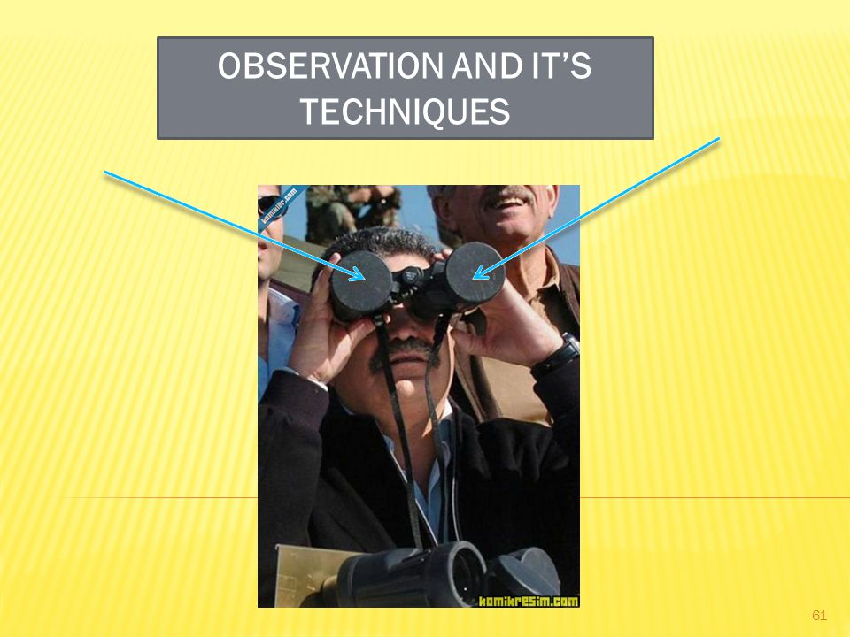 OBSERVATION AND IT'S TECHNIQUES