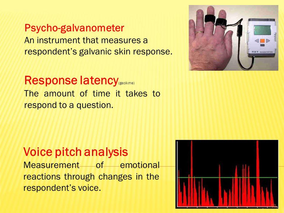Response latency(gecikme)