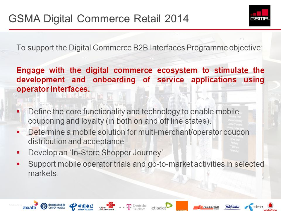 GSMA Digital Commerce Retail 2014