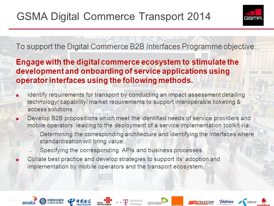 GSMA Digital Commerce Transport 2014