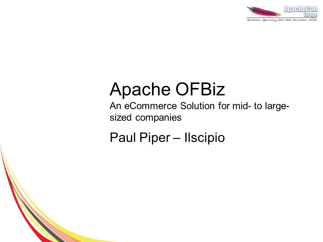 Apache OFBiz An eCommerce Solution for mid- to large-sized companies