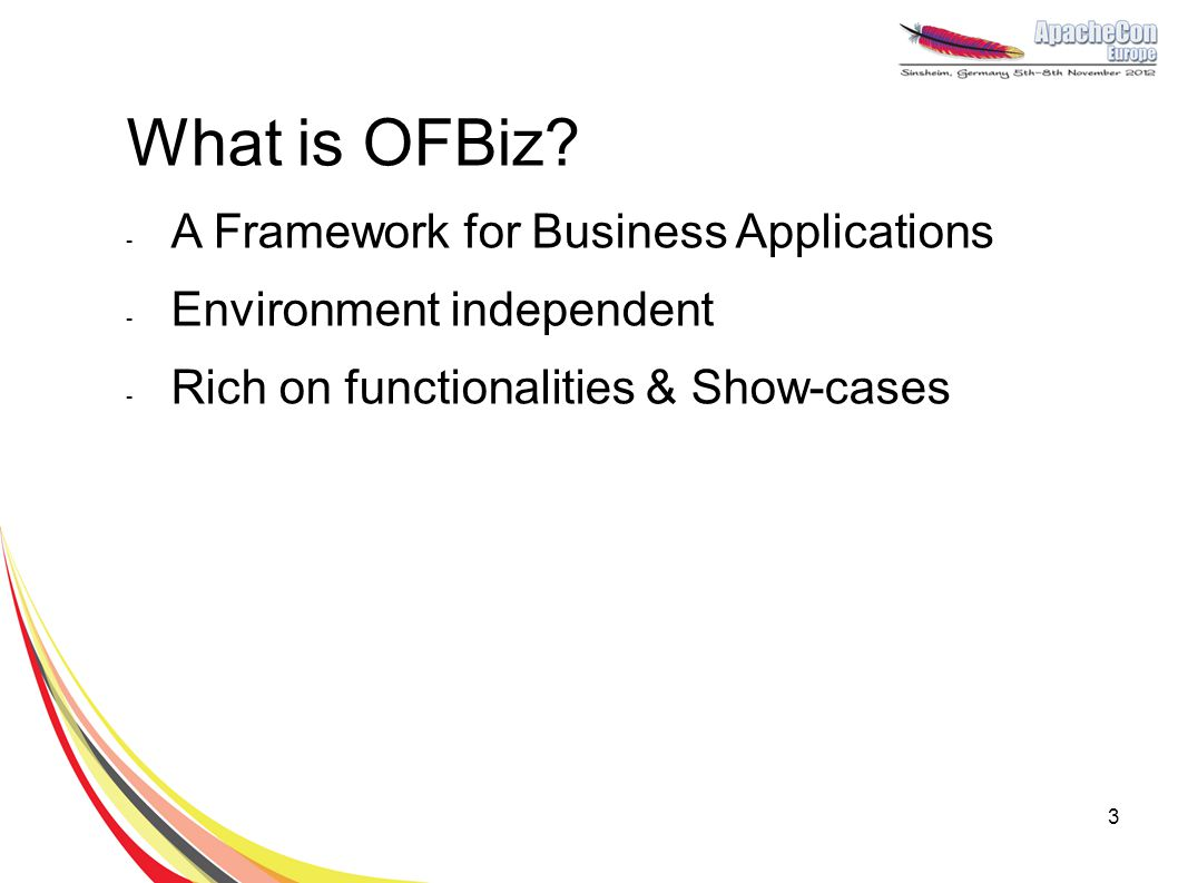 What is OFBiz A Framework for Business Applications