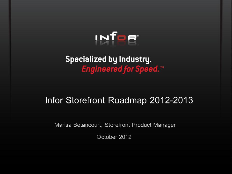 Infor Storefront Roadmap 2012-2013