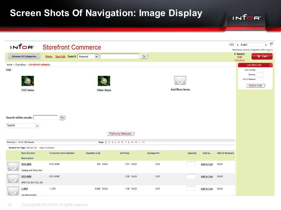Screen Shots Of Navigation: Image Display