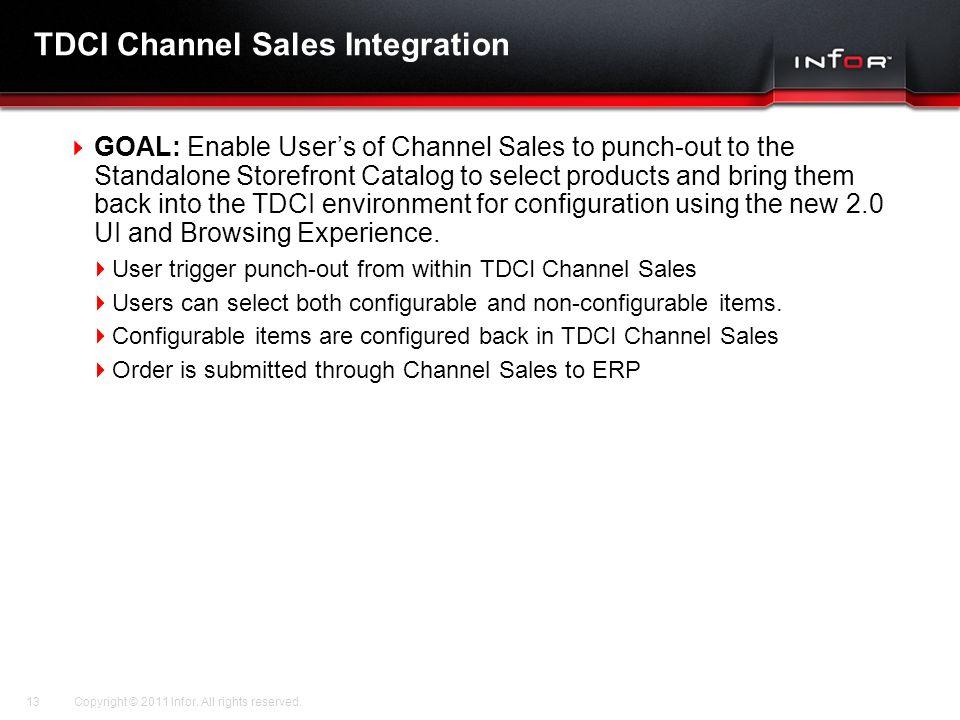 TDCI Channel Sales Integration