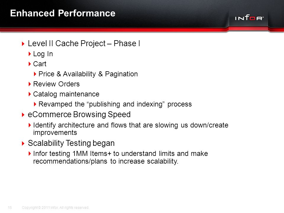 Enhanced Performance Level II Cache Project – Phase I