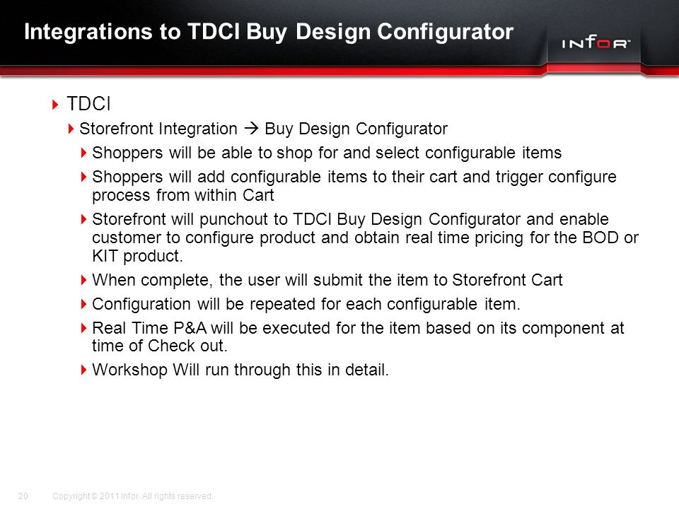 Integrations to TDCI Buy Design Configurator