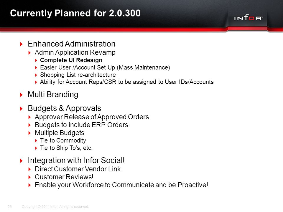 Currently Planned for 2.0.300 Enhanced Administration Multi Branding