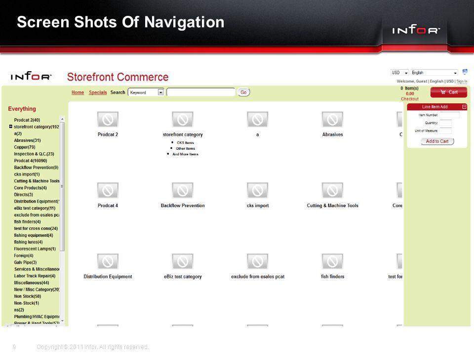 Screen Shots Of Navigation