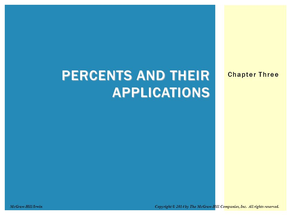 Percents and Their Applications
