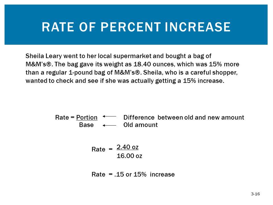 Rate of Percent Increase