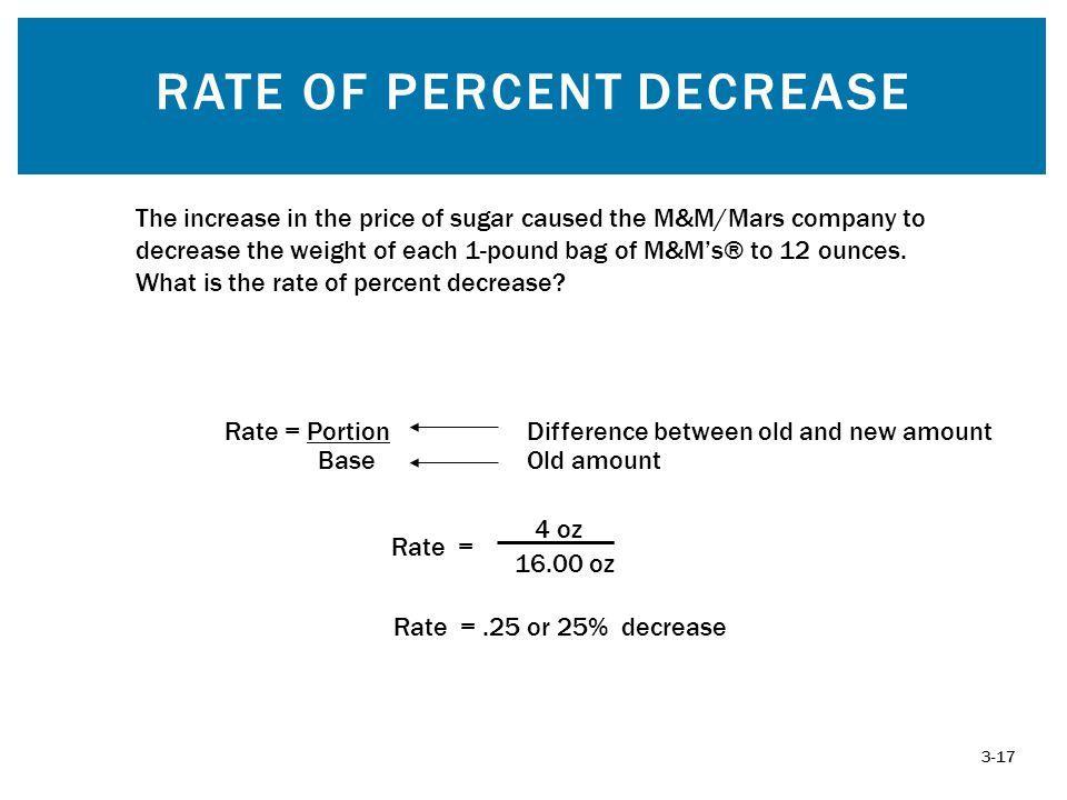 Rate of Percent Decrease
