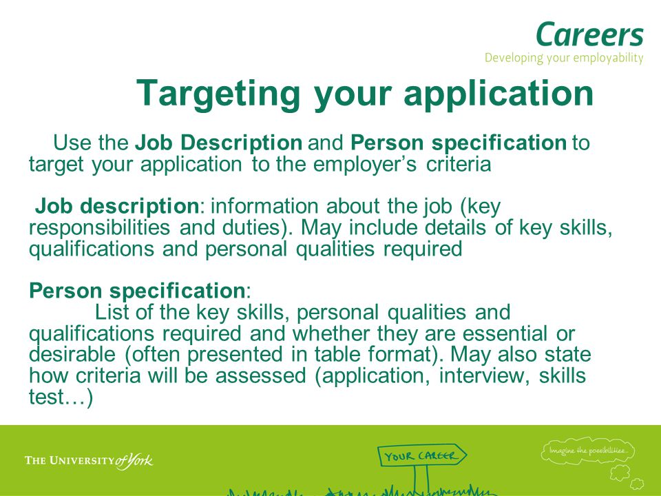 Targeting your application